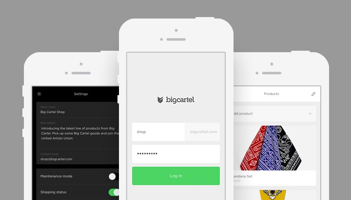 Big Cartel Mobile App